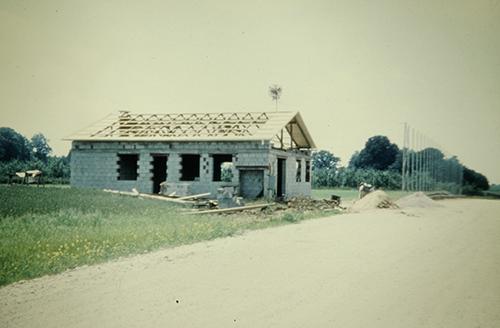 Sportheim der SU Hofkirchen im Jahr 1976